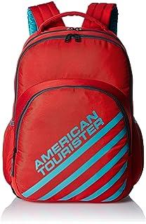 American Tourister Ebony Red Casual Backpack (Ebony Backpack 01_8901836132700)