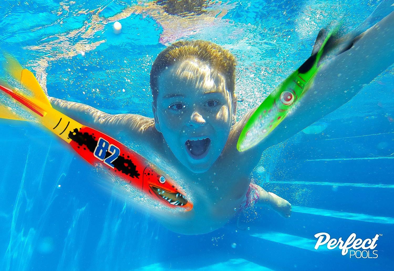 Offizielle Perfekte Pools Unterwasser-Raketen, Pool-Spielzeug und Tauchen Spiel Perfect Pools