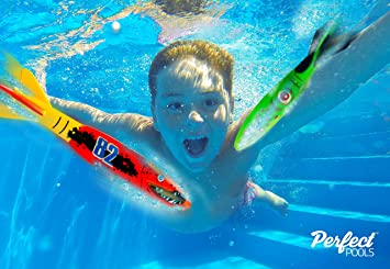 Perfect Pools Piscina de Cohetes de Agua - Juego de Buceo: Amazon ...