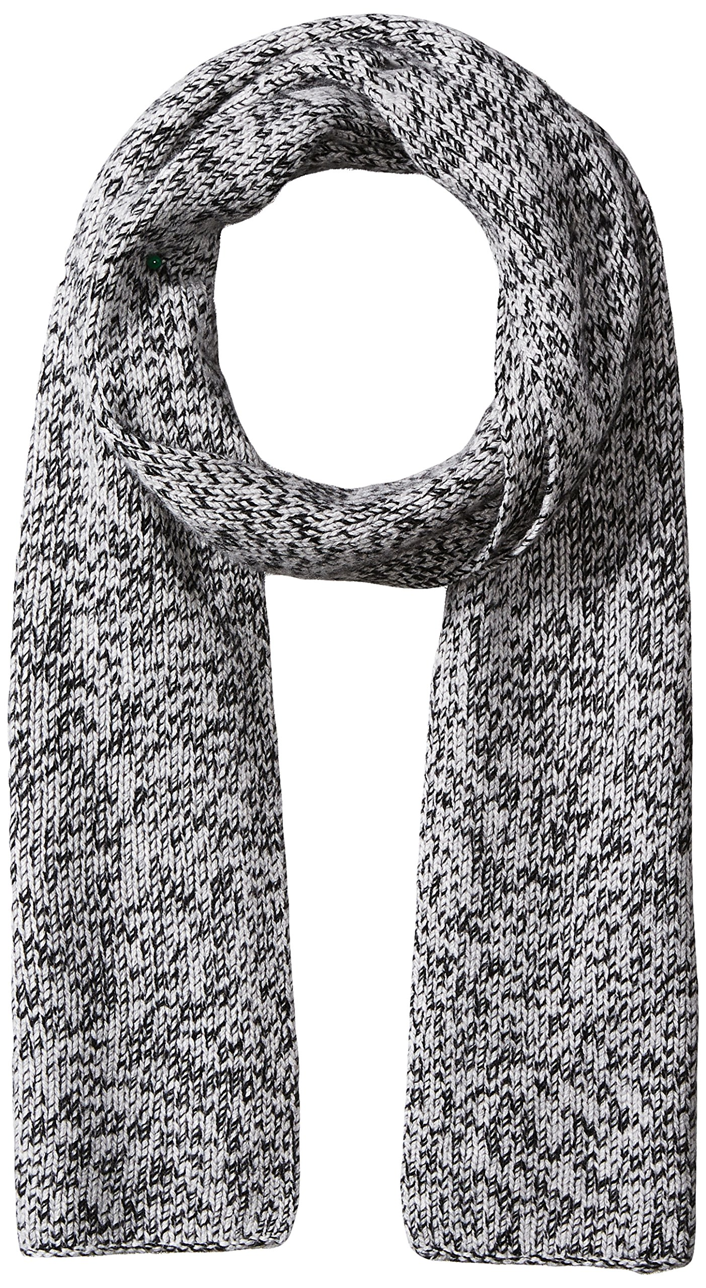 Williams Cashmere Men's 100% Cashmere Jersey Marl Scarf, Black, One Size