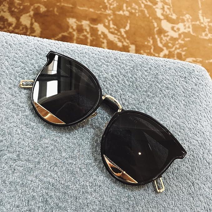 VVIIYJ Tears Occhiali da sole decorativi in metallo Occhiali da sole Donna Occhiali da vista rotondi neri Coppia Uv da uomo ,caffè leggero da tè sfumato