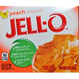 Jell-O Gelatin Dessert, Peach Flavor, 3-Ounce Boxes (Pack of 5)
