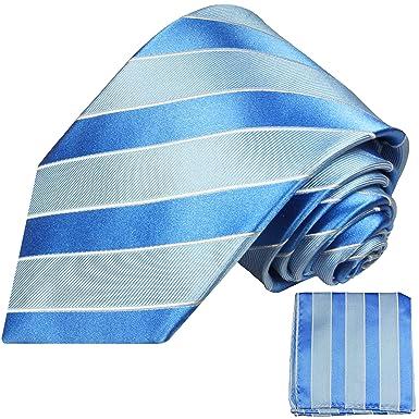 Corbatas Set 2 piezas azul 100% seda corbata (extra largo 165 cm ...