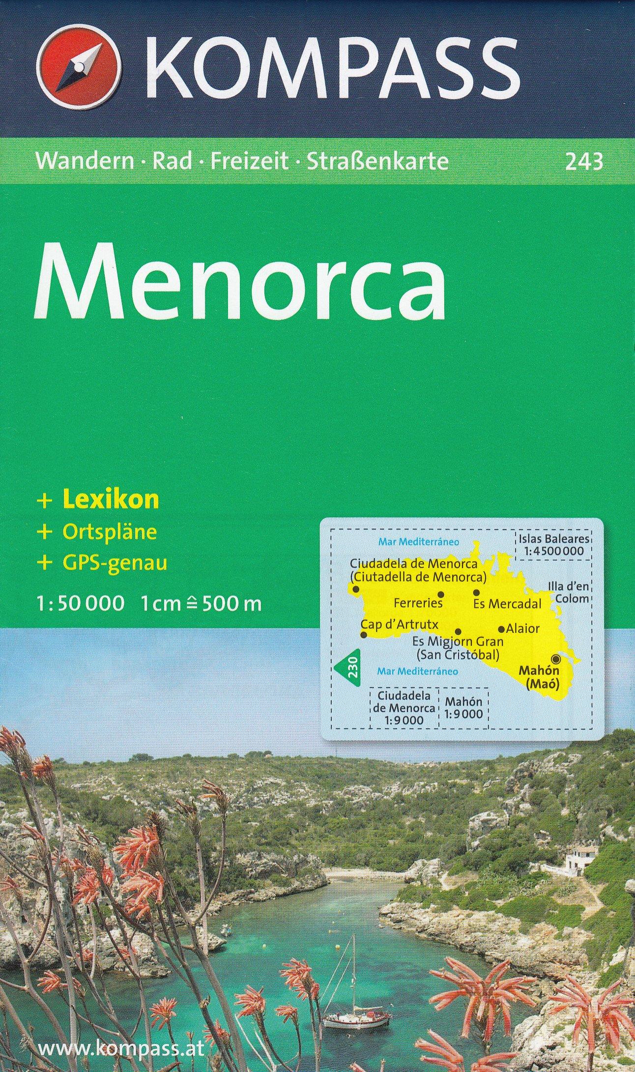 Menorca 1:50.000 España, Islas Baleares senderismo y mapa ...