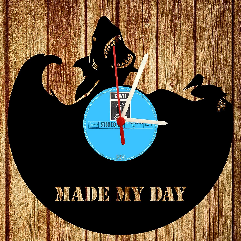 Reloj De Pared, Fabricado My Day, diseño Tocadiscos Reloj ...