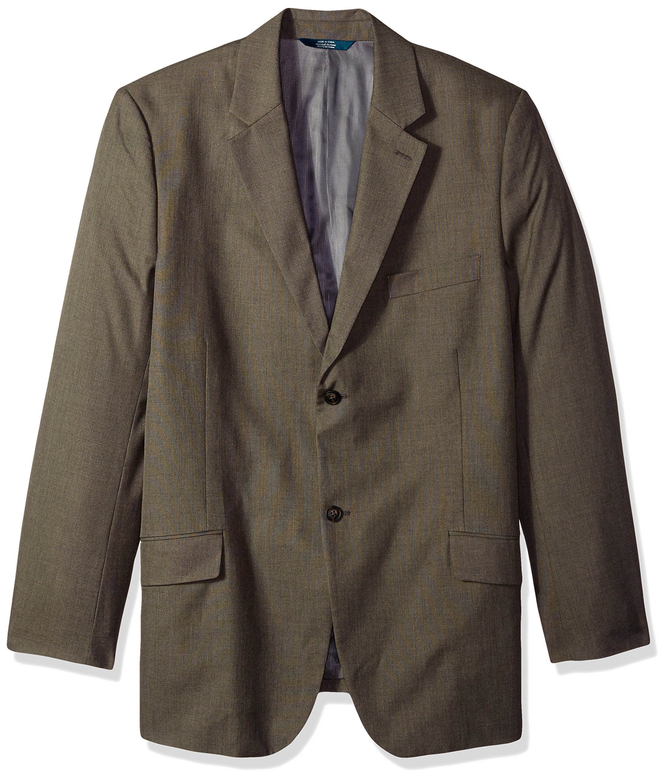 Perry Ellis Men's Big and Tall Regular Fit Pattern Twill Suit Jacket, Chinchilla, 46-Long