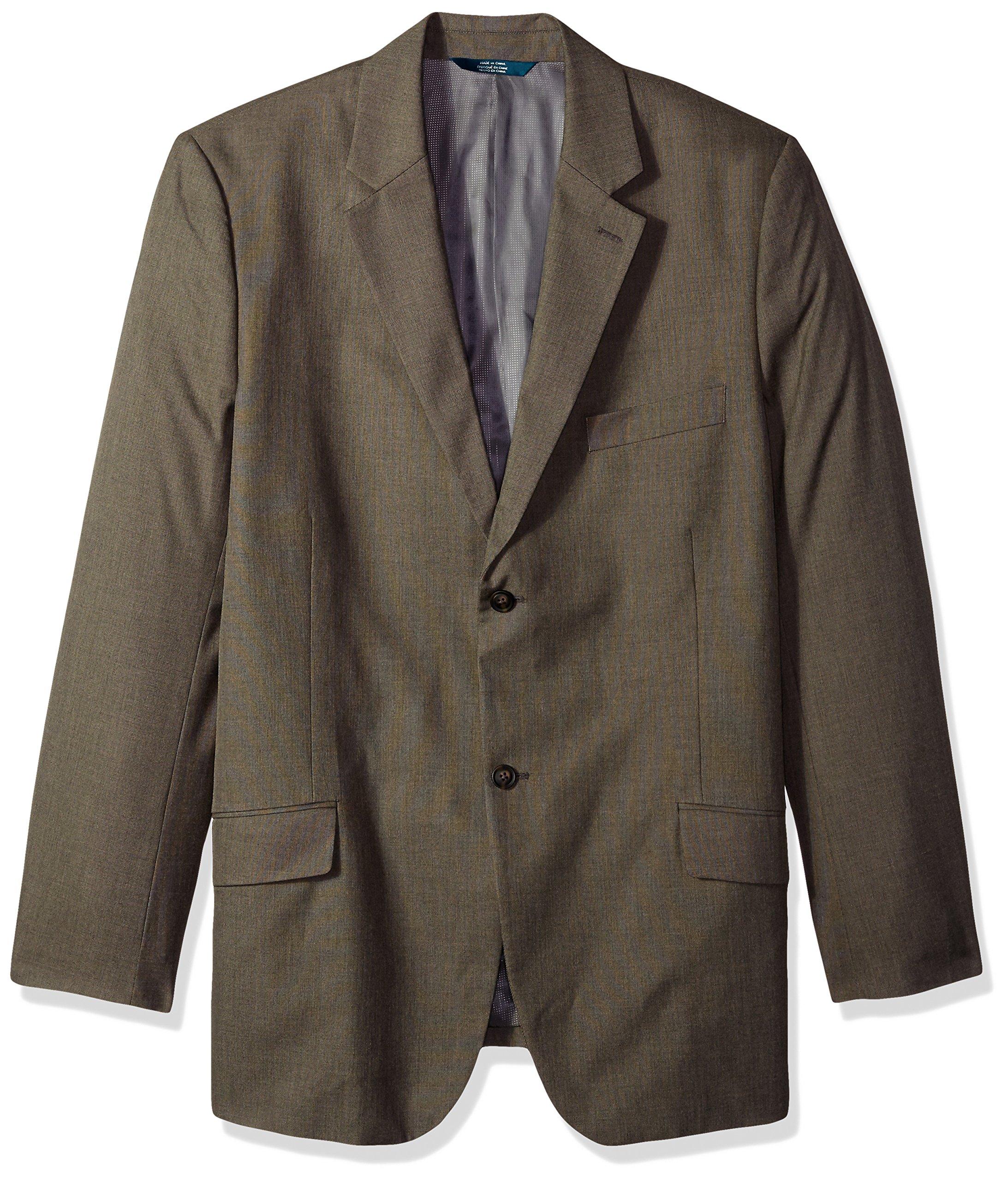 Perry Ellis Men's Big and Tall Fit Pattern Twill Suit Jacket, Chinchilla, 50-Regular