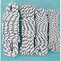 CasaXXl 20 m polypropyleen touw ankerlijn boottouw touw touw touw in zwart-wit - robuuste en weerbestendige touwen in…