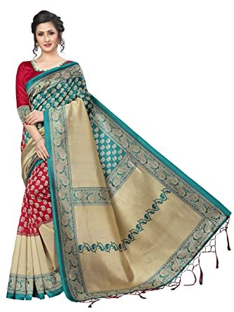 31c4d24610 GLE Mysore Art Silk Saree With Blouse Idea For Women & Girls (GLE-HIPHOP  RAMA RED_Multicoloured) (MORE THAN 120 DESIGNS & PRINTS): Amazon.in:  Clothing & ...