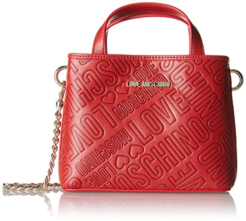 Love Moschino Borsa Embossed Pu Rosso - Borse Baguette Donna b8edb9dab4b