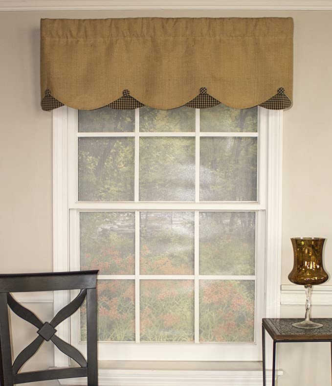 Amazon Com Rlf Home Burlap Petticoat 50 Inch Curtain Valance Home Kitchen