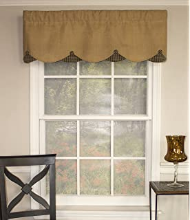 Wonderful RLF HOME Burlap Petticoat 50 Inch Curtain Valance