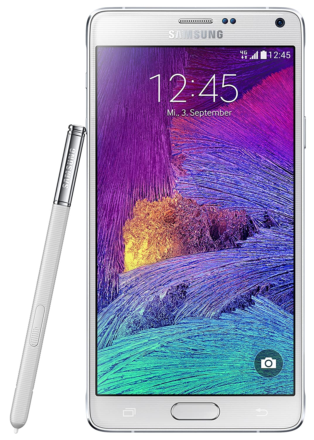 Amazon.com  Samsung Galaxy Note 4 SM-N910F 4G LTE White Factory Unlocked  International Model  Cell Phones   Accessories 78fa6f0f6c29