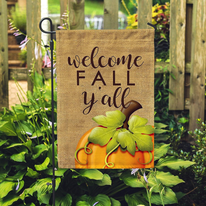 Amazon.com : Happy Fall Y\'all Garden Flag Outdoor Patio Seasonal ...