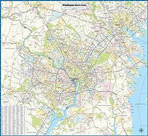 Washington DC Metro Area Laminated Wall Map (46