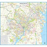 Washington Dcdc Subway Map.Streetwise Washington Dc Metro Map Laminated Washington Dc