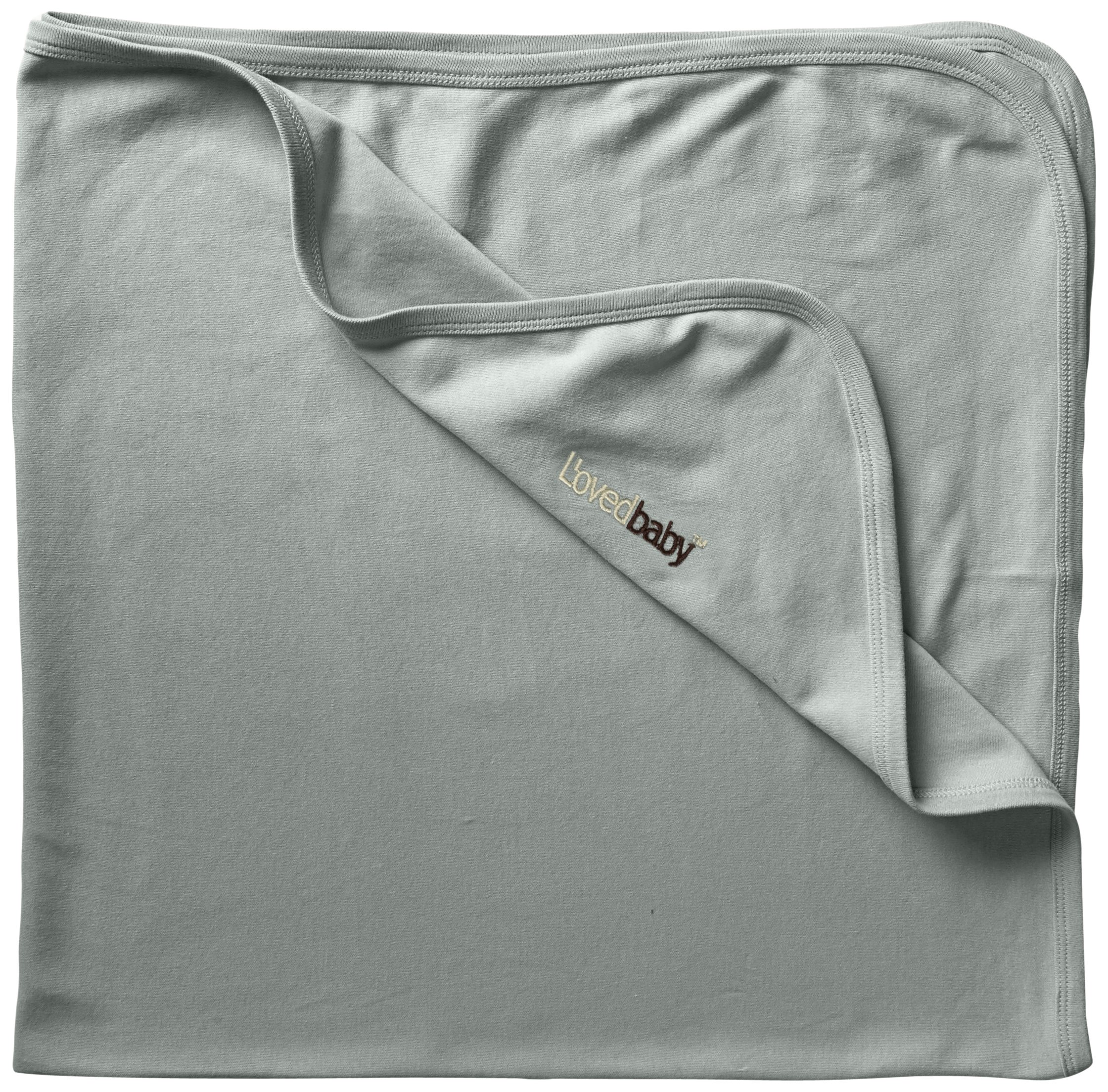 L'ovedbaby Unisex-Baby Newborn Organic Swaddling Blanket, Seafoam, One Size