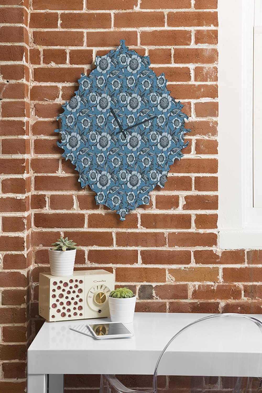 29 x 22 Deny Designs Caroline Okun Camelia Organica Baroque Clock