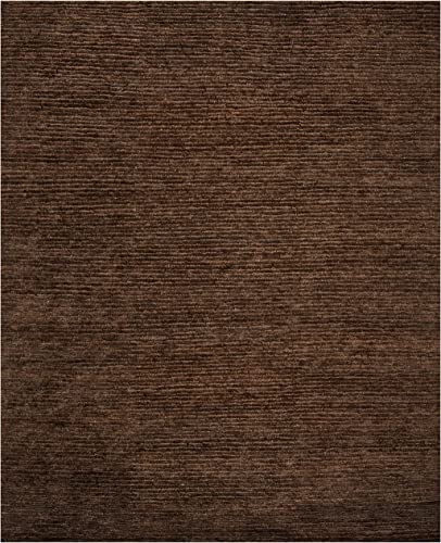 Safavieh Organica Collection ORG213A Hand-Knotted Brown Wool Area Rug 9' x 12'
