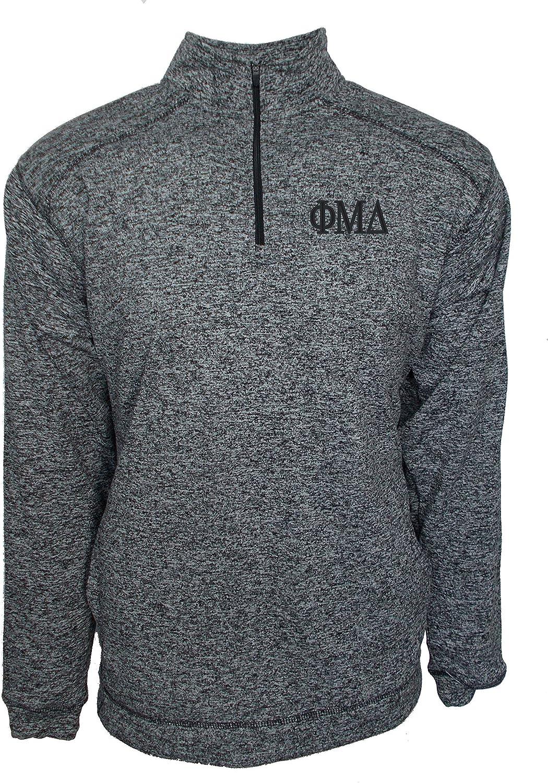 Mega/_Greek Mens Phi Mu Delta Fleece Quarter Zip Cosmic Pullover