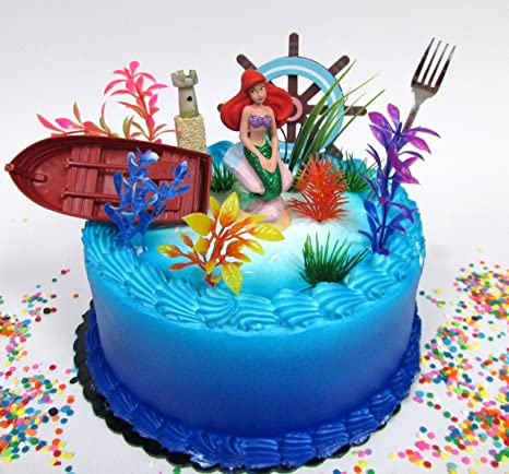 Image Unavailable Not Available For Color Little Mermaid PRINCESS ARIEL Themed Birthday Cake