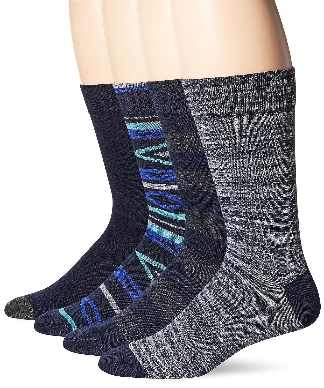 Union Bay Men's Pattern Dress Socks Dark Navy 10-13 Sock/6-12 Shoe UBM2392