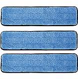 """3 Pack 18"""" Microfiber Wet Mop Refill Pads for Flat Microfiber Mop Frames"""