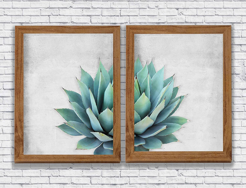 Watercolor Cactus Print Set Botanical Home Decor Succulents Wall Decor Artworks Wall Art Living Room Art Wall Hanging Decor House Warming Gift