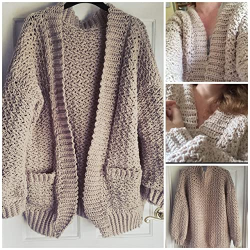 Chunky Crochet Cardigan Bulky Oversized Cardi Jacket Coat