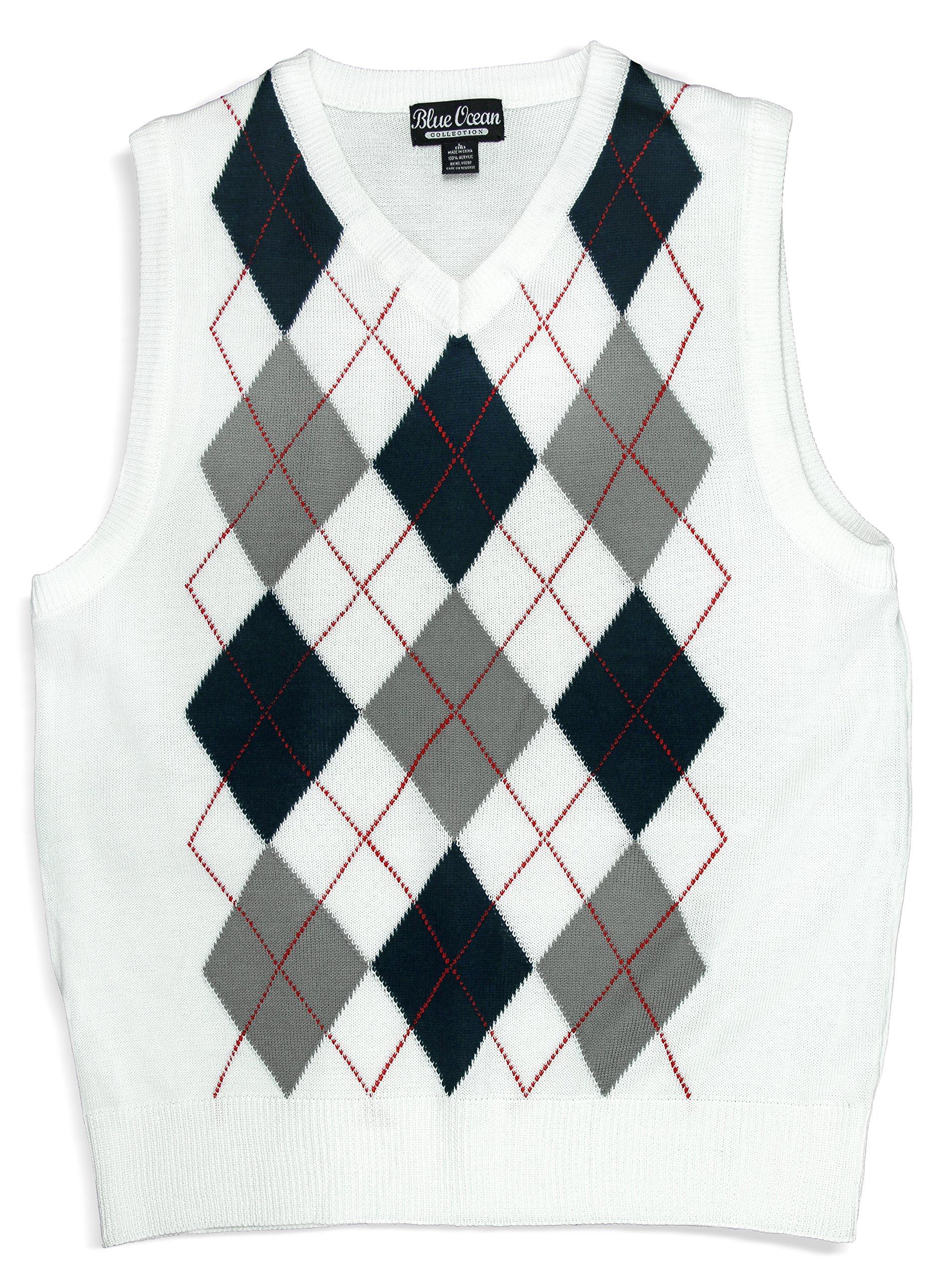 Blue Ocean Kids Argyle Sweater Vest-12-14/Medium