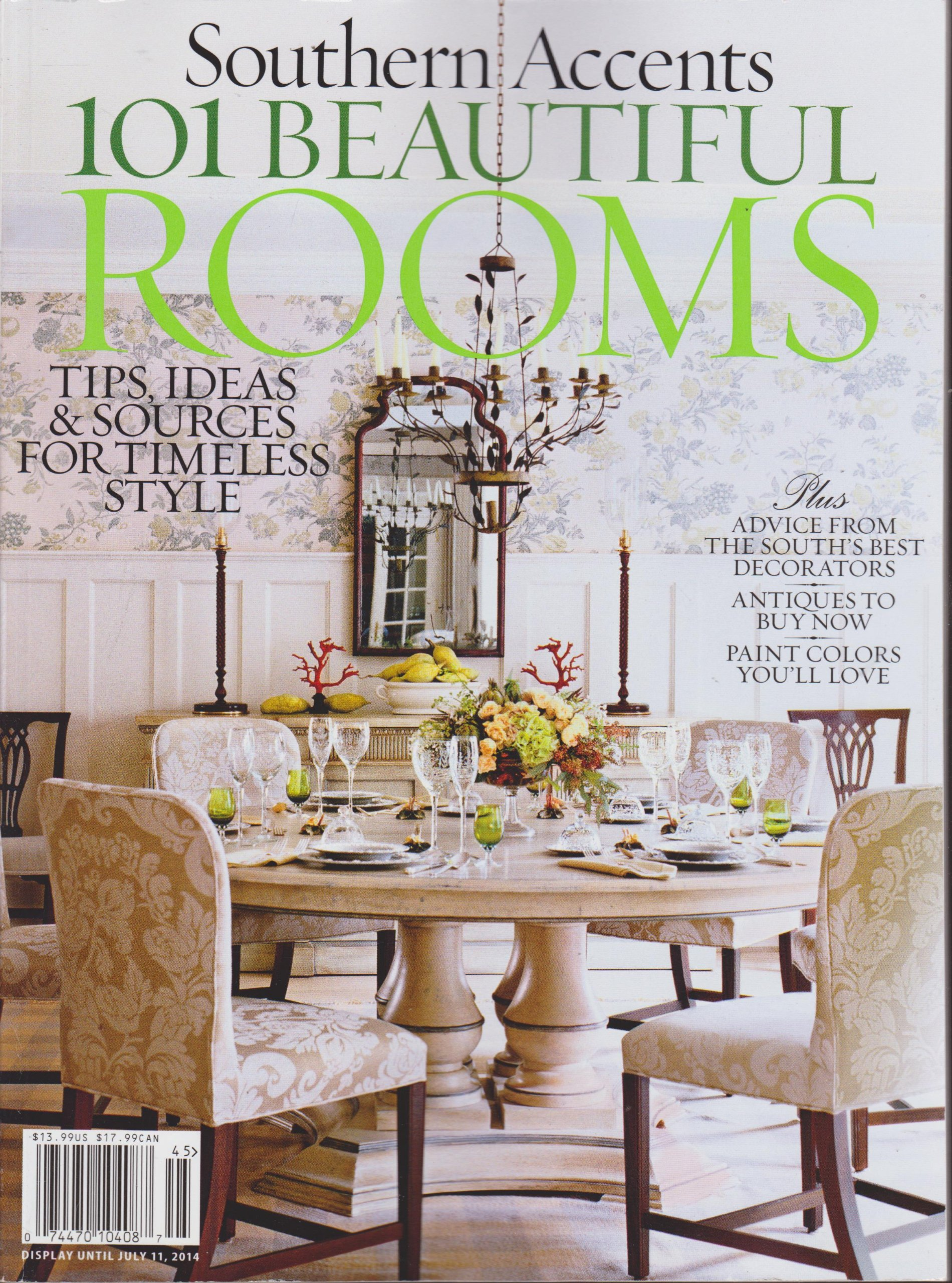 Southern Accents 101 Beautiful Rooms Magazine 2014 pdf epub
