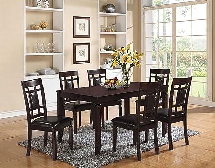 Acme Furniture 71955 Sonata 7 Piece Espresso Dining Set