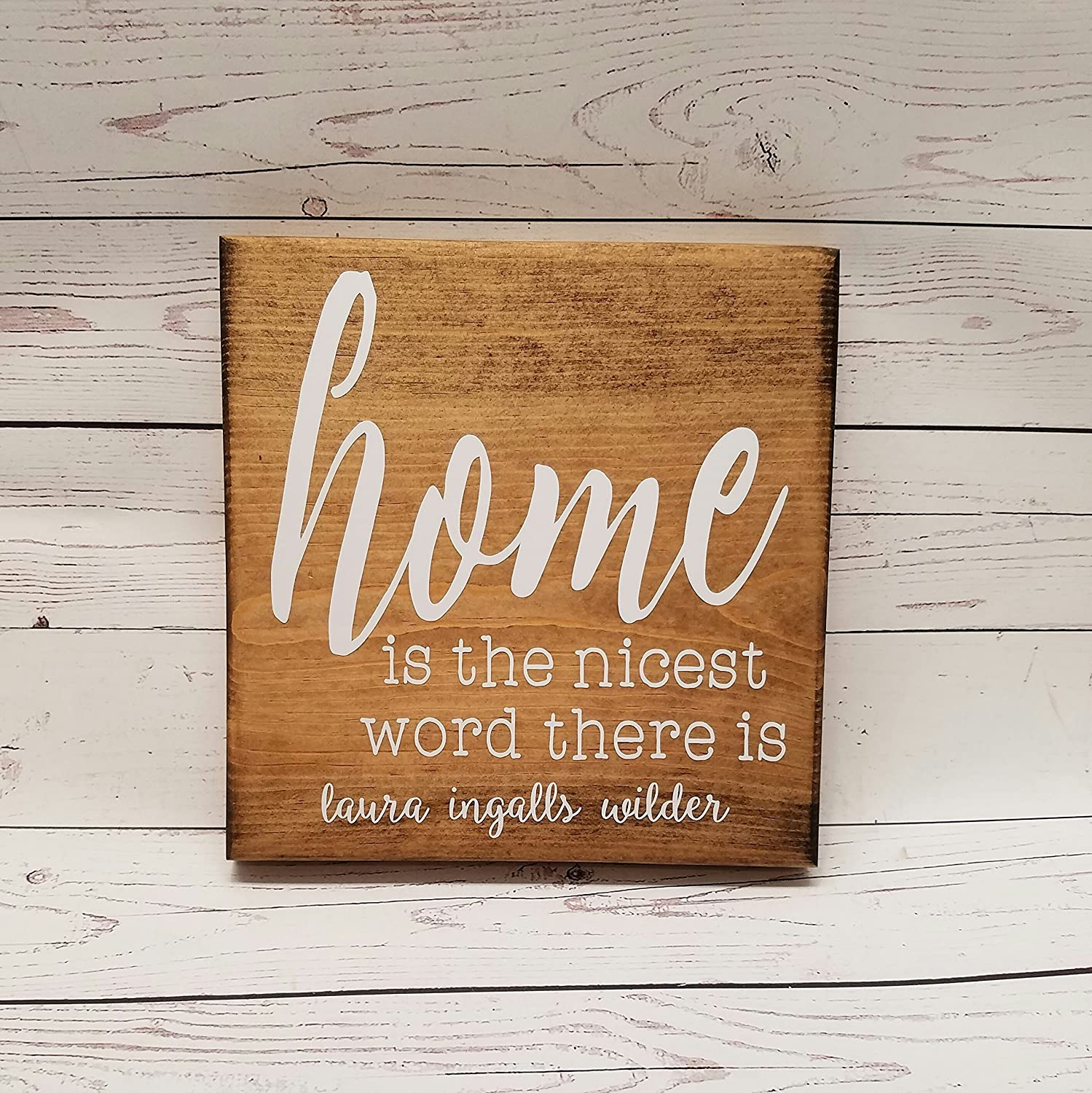 Spring Home Decor Wooden Spring Sign Farmhouse Signs Laura Ingalls Wilder Sign