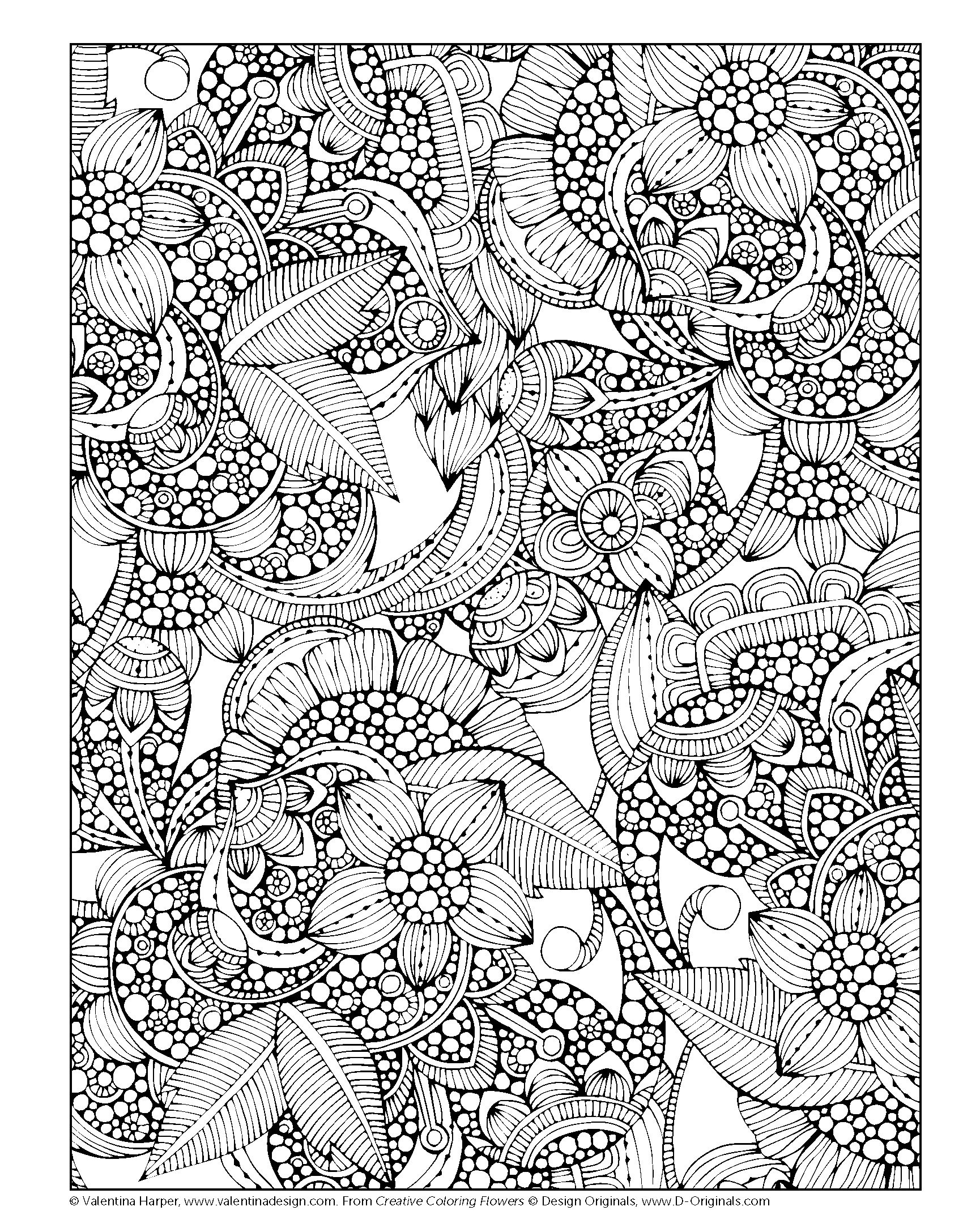 Creative Coloring Flowers Art Activity Pages To Relax And Enjoy Valentina Harper 0023863055055 Amazon Books