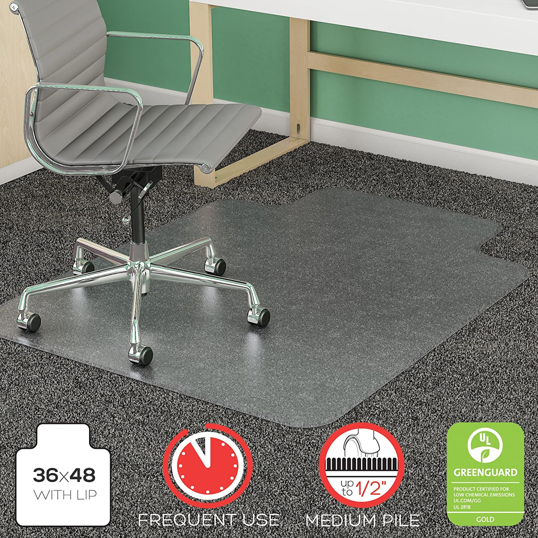 amazon com deflecto supermat clear chair mat medium pile carpet