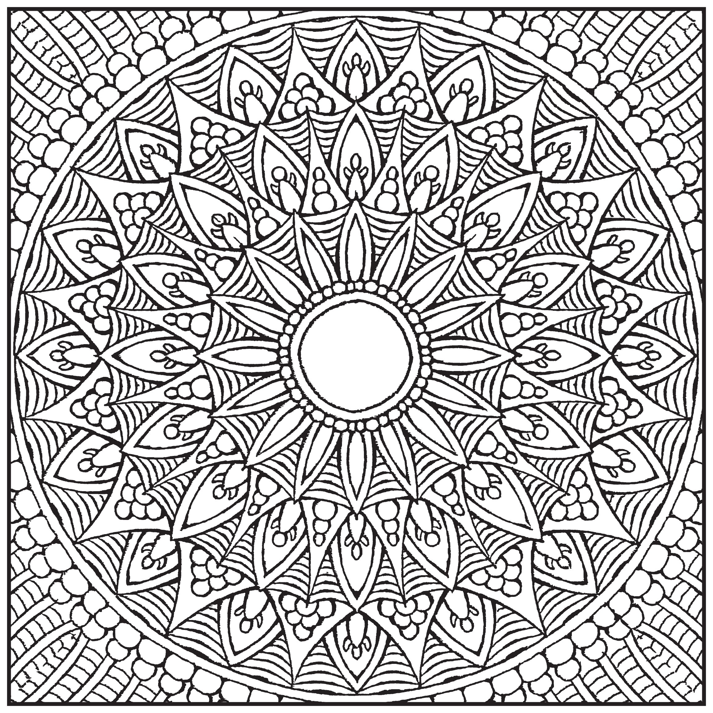 Amazon.com: Mandalas Adult Coloring Book With Bonus Relaxation Music ...