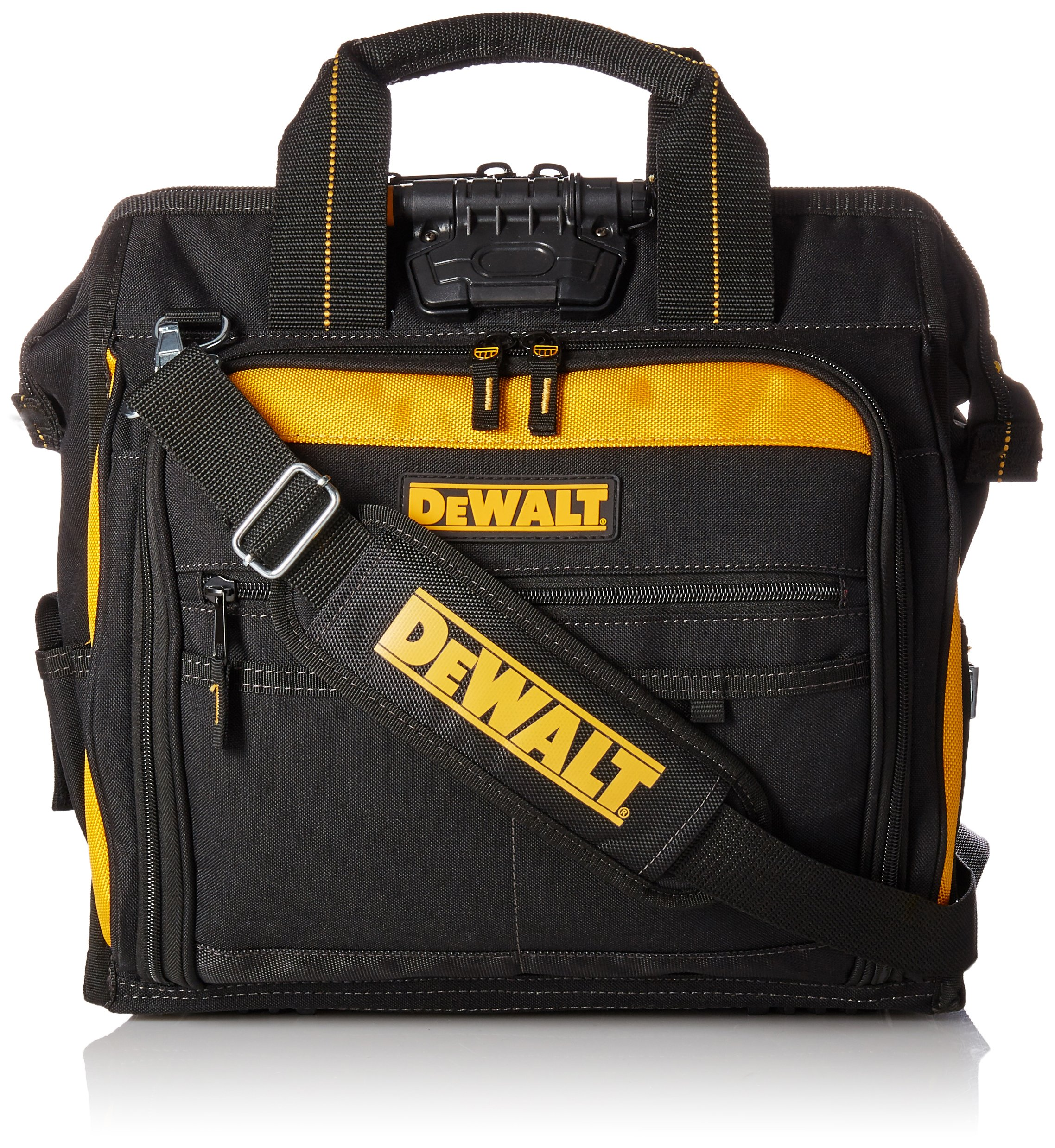 DEWALT Available DGL573 Lighted Technician's Tool Bag, Black/Yellow