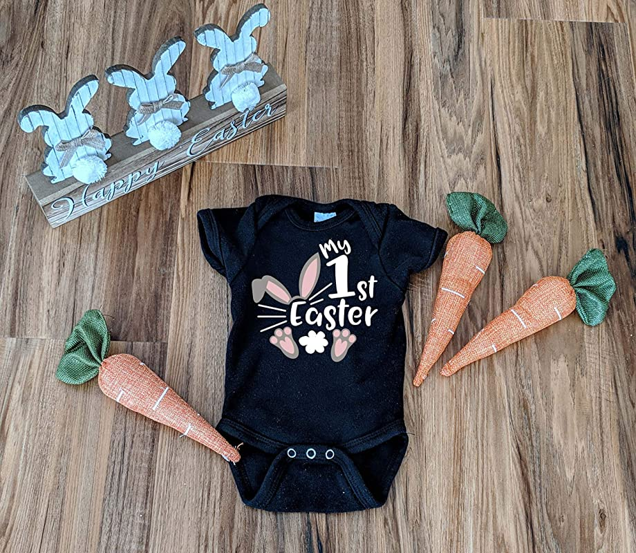 Baby Onesie\u00ae Its Easter Y/'all Onesie Trendy Retro Unisex Onesie Toddler T-shirt Easter Pregnancy Announcement Easter 2021 Hunny Bunny