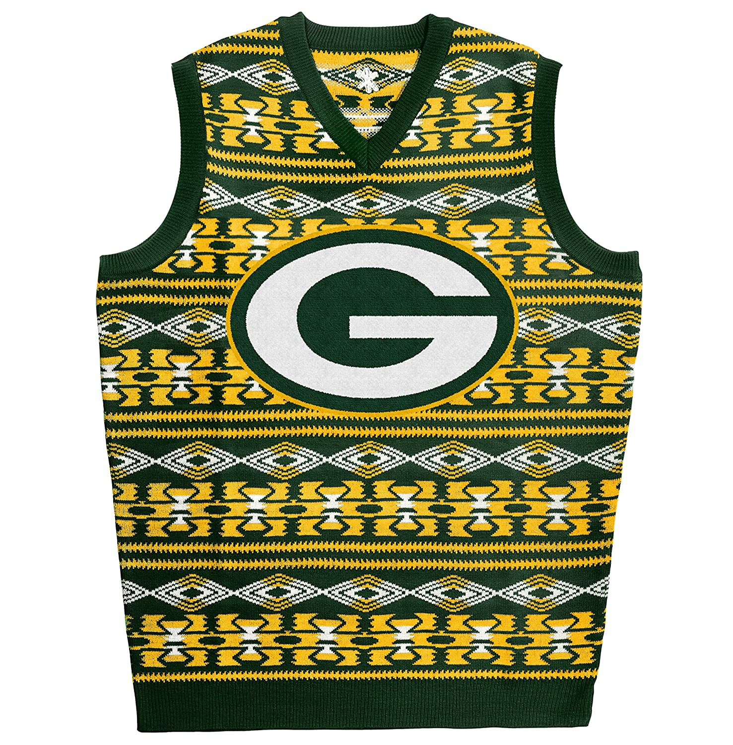 Amazon.com : KLEW NFL Ugly Sweater Vest : Sports & Outdoors