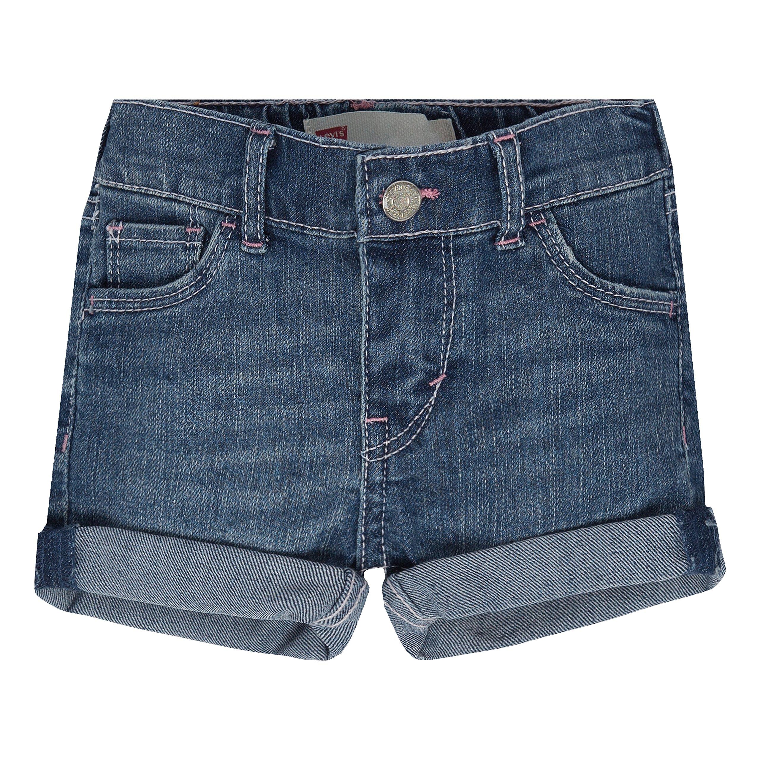 Levi's Girls' Summer Love Shorty Shorts, Fiji Blue, 18M