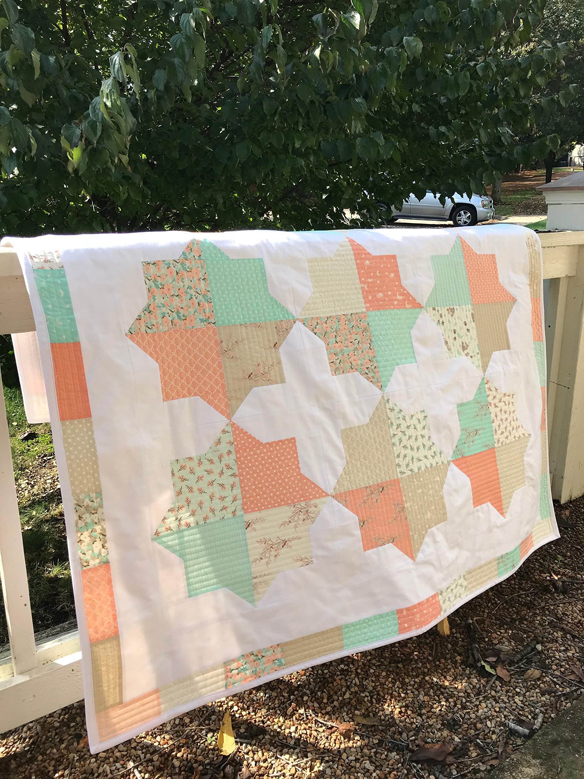 Modern Baby Quilt - Baby Quilt - Toddler Bedding - Homemade Baby Quilt - Baby Blanket - Heirloom Baby Quilt - Woodland Quilt