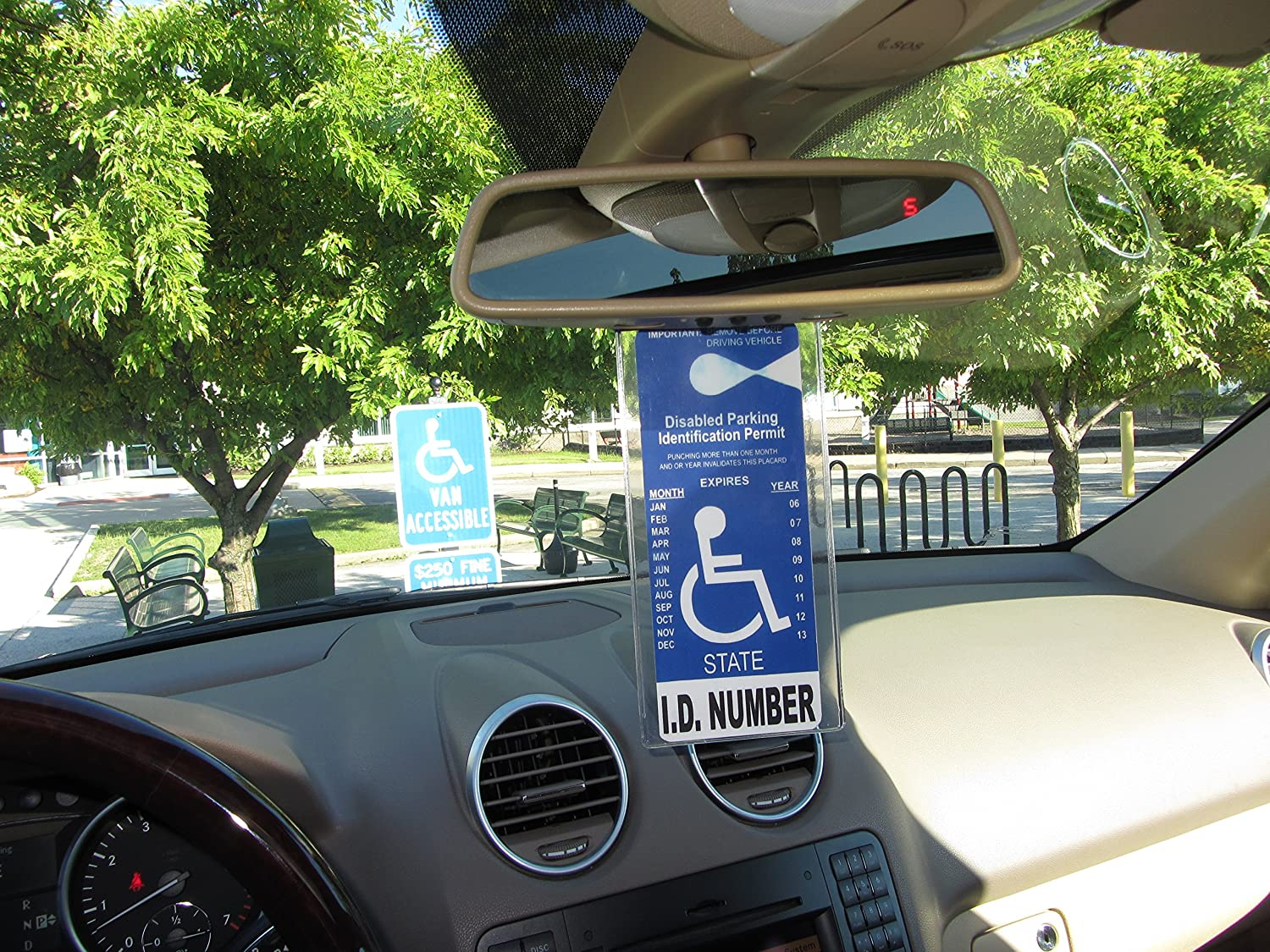 MirorTag Charm by JL Safety- A Novel Way to Protect Display /& Put Away a Handicapped Parking Placard This Handicap Placard Holder comes with a detachable strong Magnet Charm that will never melt or bend or break in the sun MAGNETICALLY snap On /& Off you