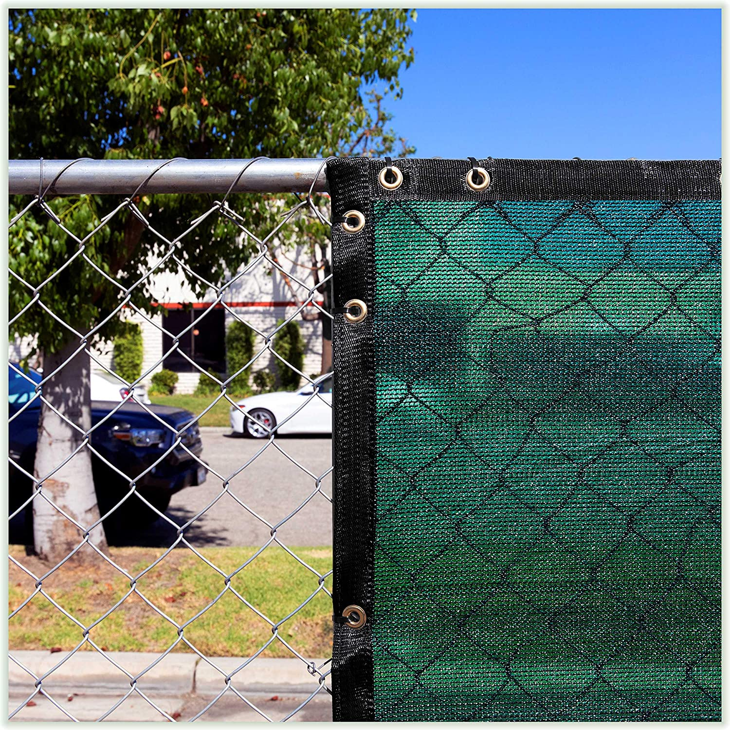 Amazon Com Colourtree Customized Size Fence Screen Privacy Screen Green 4 X 25 Commercial Grade 170 Gsm Heavy Duty We Make Custom Size Garden Outdoor
