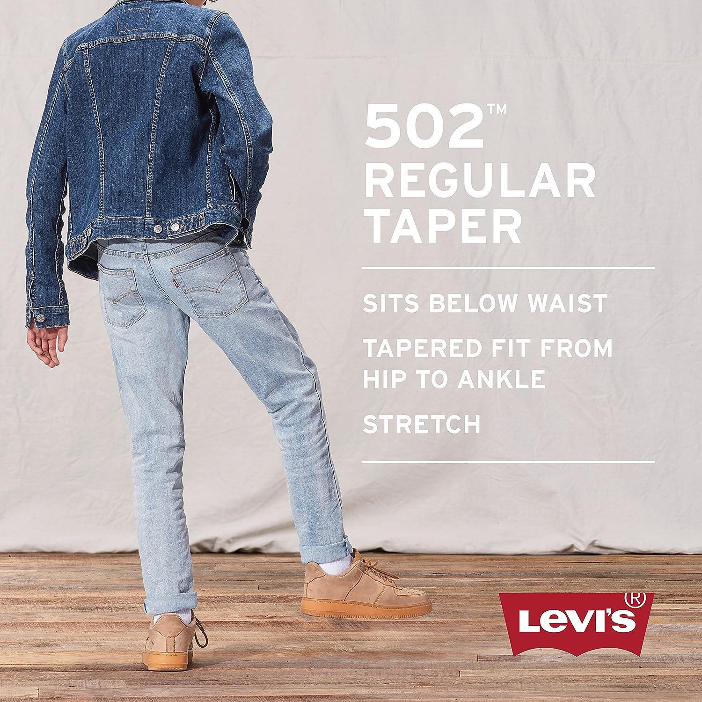 58e186796fb Levi's Big Boy's 502 Regular Taper Jeans Pants, dijon, 8: Amazon.co.uk:  Clothing
