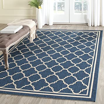 Amazon.com: Safavieh Courtyard Collection CY6918-268 Navy and ...