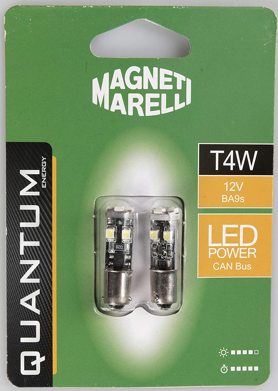 MAGNETI MARELLI 070.00000000009499 T4W Coppia di lampadine Auto LED 8SMD 12V Attacco BA9S