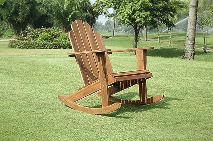 Teak Adirondack Rocking Chair