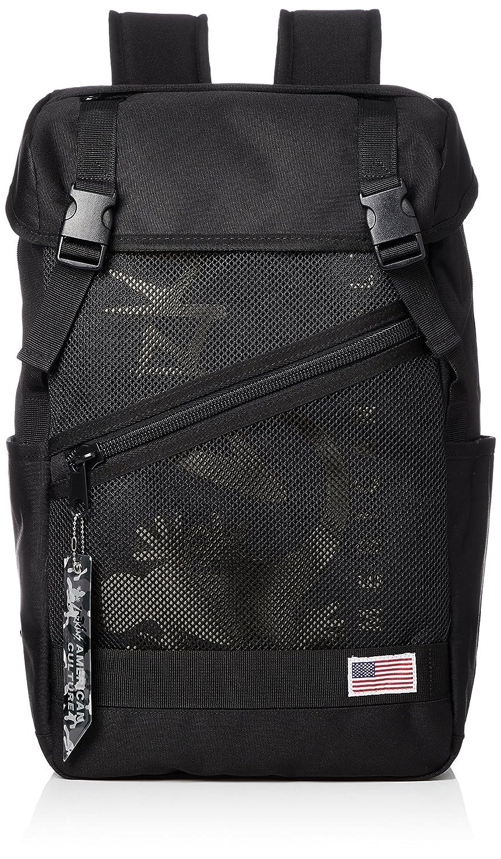 [ラーキンス]バックパック LKLA-05 メッシュポケット B07B4R6ZL6 ブラック/ブラック ブラック/ブラック