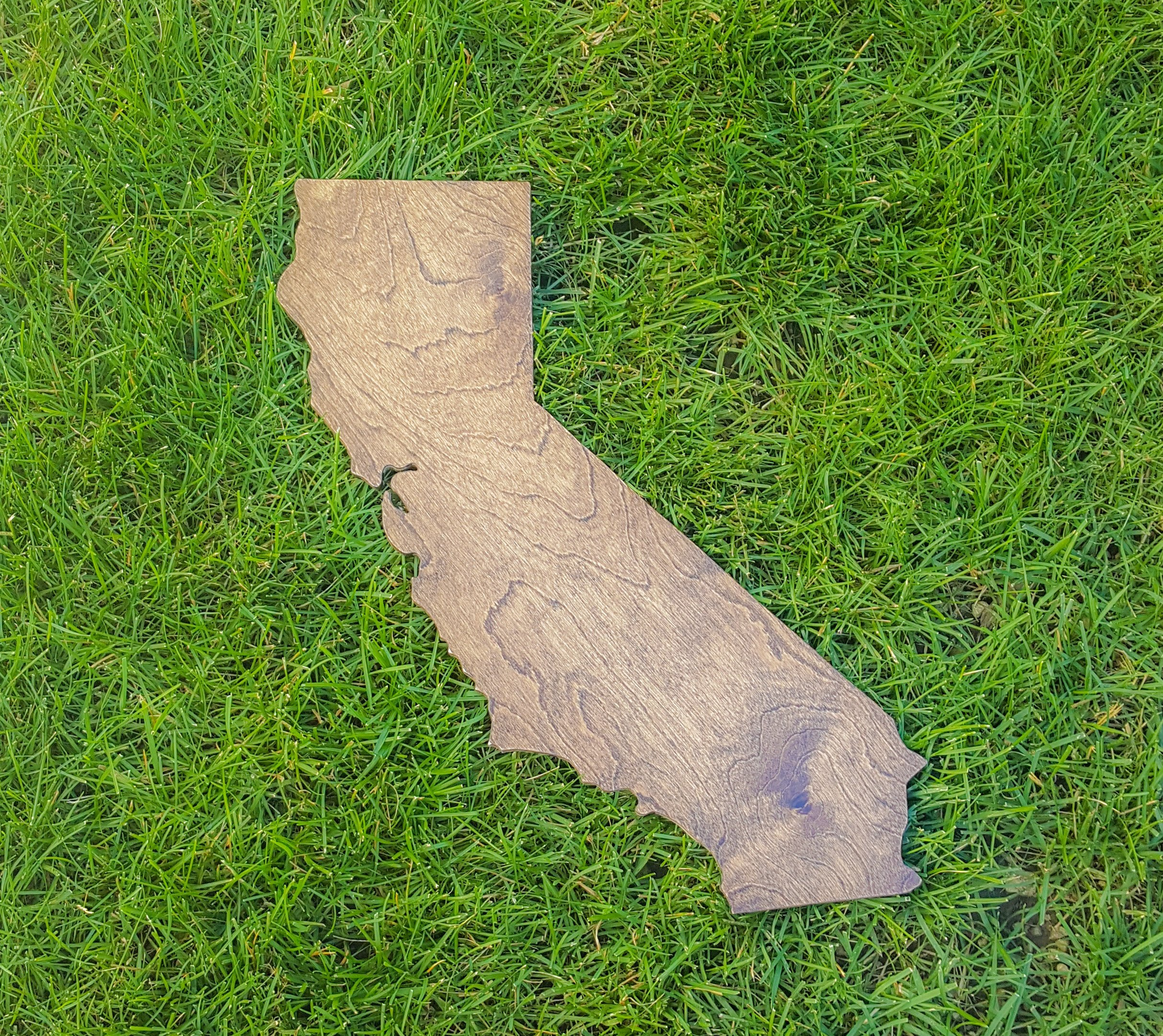 Rustic California State Wooden Gallery Wall Art Cutout Office College Dorm Home Bedroom Decor