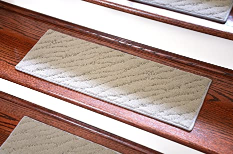 Dean Light Gray Indoor/Outdoor Non Skid Carpet Stair Treads/Runner Rugs  23u0026quot